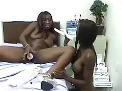 black lesbian licking young pussy